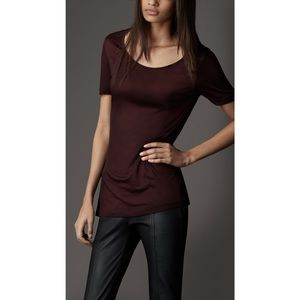 Burberry Jersey Tee With Bow Detail